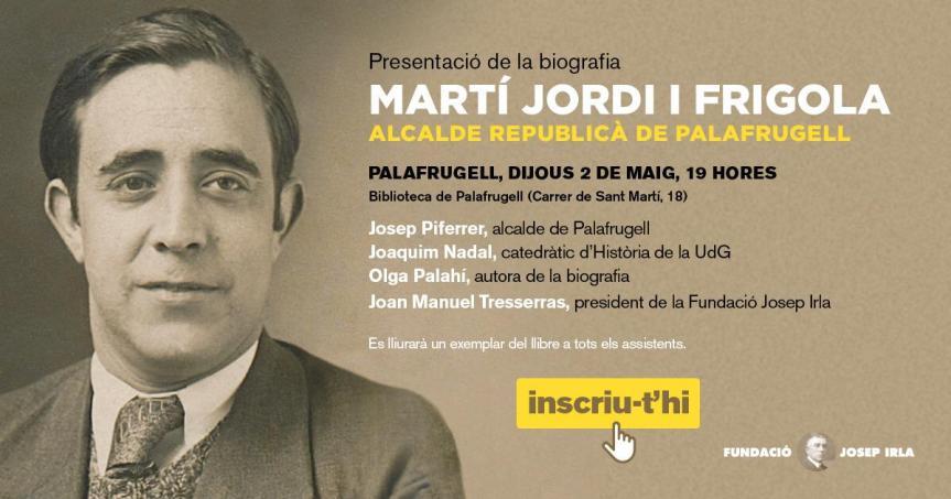 Presentació de la biografia: Martí Jordi iFrigola
